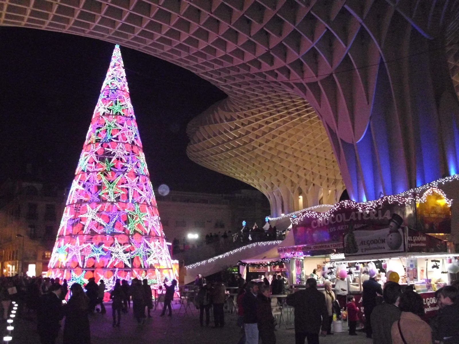 Christmas Spain.Seville In Christmas Around Spain